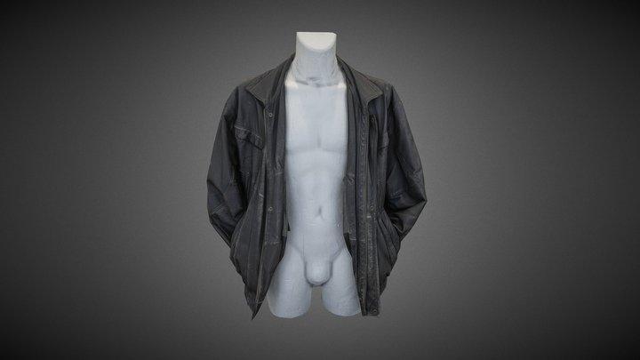 Black Leather Jacket [3D Scan] 3D Model