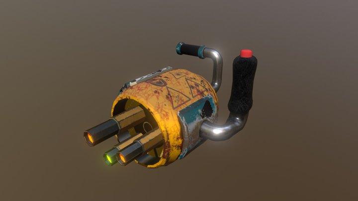 Plasma Cannon 3D Model