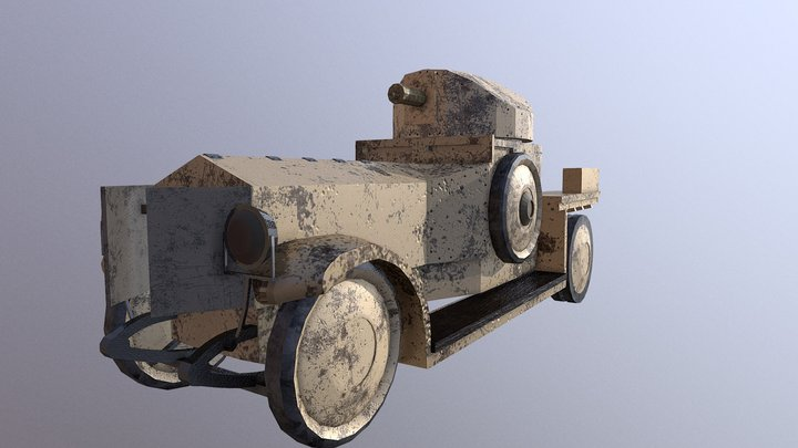 Rolls-Royce Armoured Car 3D Model