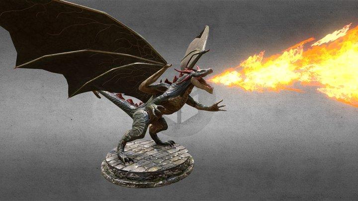 Drake the Dragon Low poly 3D Model
