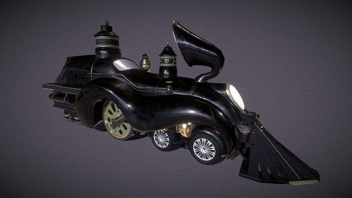 Locomotive Car 3D Model