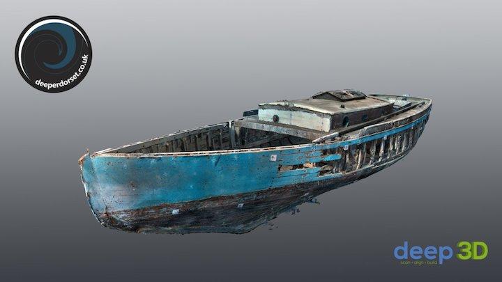 The Yacht Dolly Varden. 3D Model