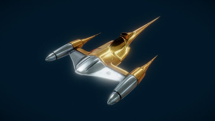 Naboo Starfighter from Star Wars Episode 1 3D Model