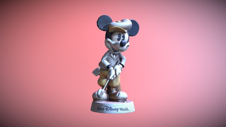 Mickey Mouse Vintage toy 3D Model
