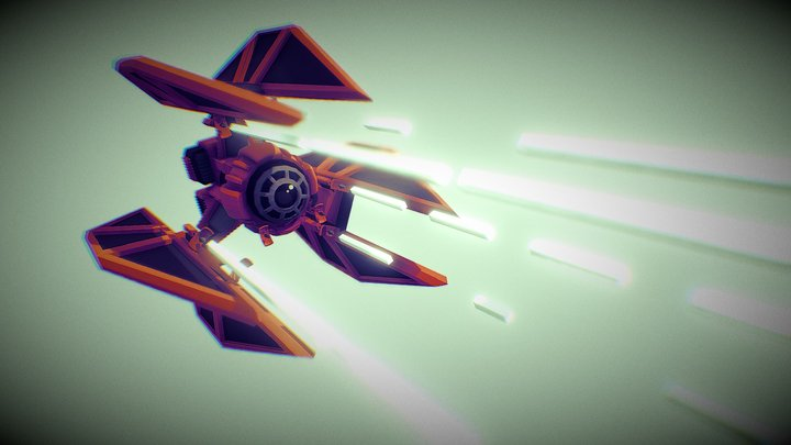 Star Wars Space Ship 3D Model