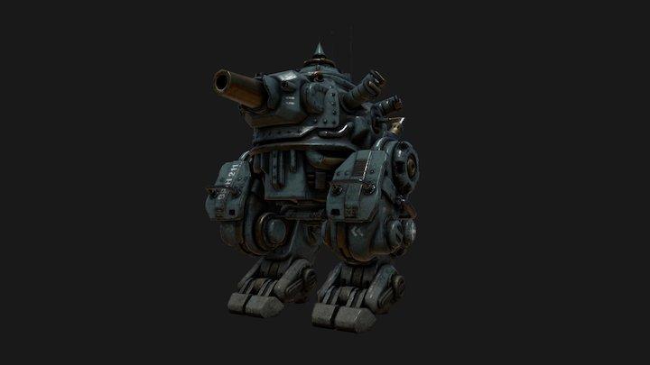 Mech Tank 3D Model