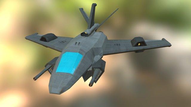 """Dragonfly"" Heavy Fighter 3D Model"