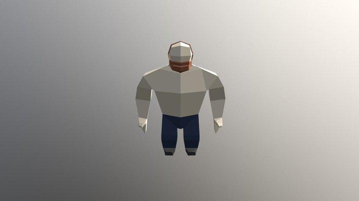 Dwarf Low Poly 3D Model