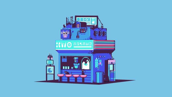 Pixel Storefront 3D Model