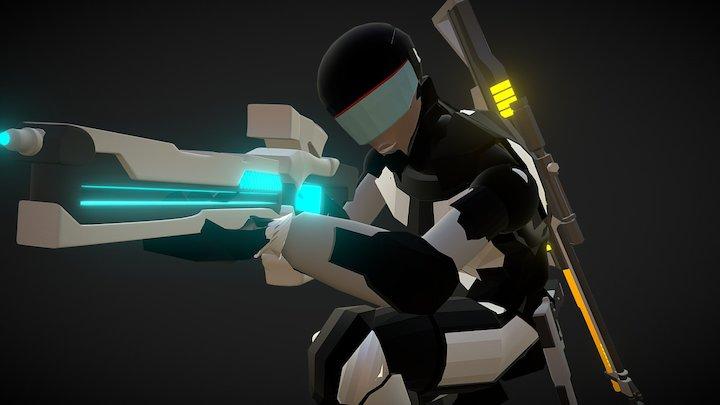 Robotcop pose n weapon 3D Model