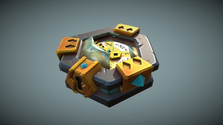 Stylized Compass - Daily Prop Practise 3D Model