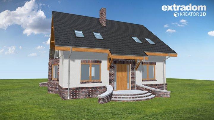 Dom Dla Ciebie 2 bez garażu [B] (WRF1824) 3D Model