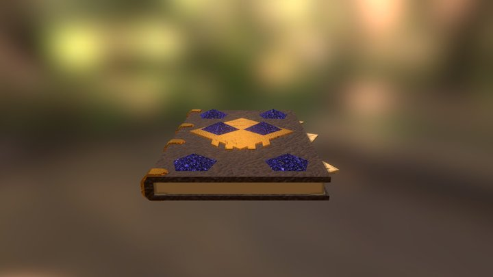 Low Poly Book 3D Model