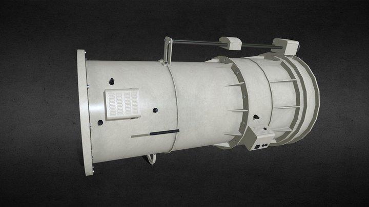 Old soviet telescope AZT2 (in progress) 3D Model