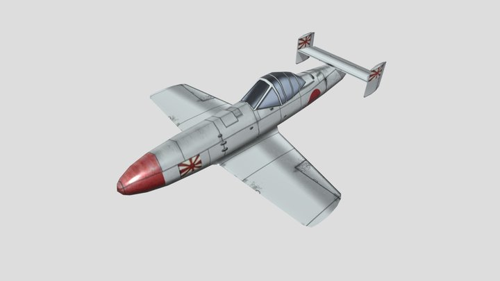 Yokosuka MXY-7 Ohka Warplane Low Poly Asset 3D Model
