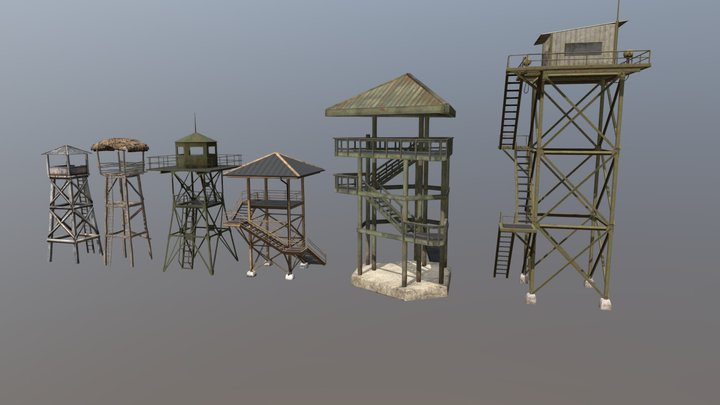 Guard Towers 3D Model