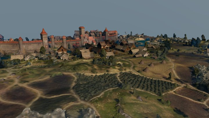 Witcher 3 Farcorners 3D Model