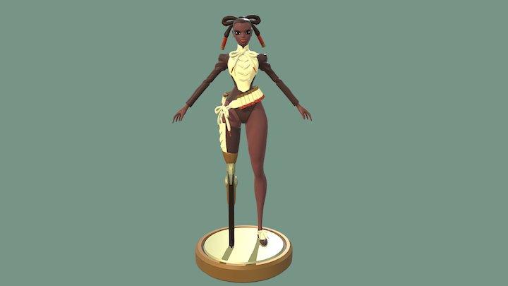 Peg Leg Bessie 3D Model