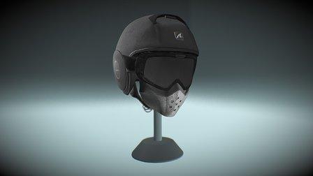 Shark Raw Helmet in PBR 3D Model