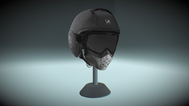 Shark Raw Helmet in PBR 3D Model