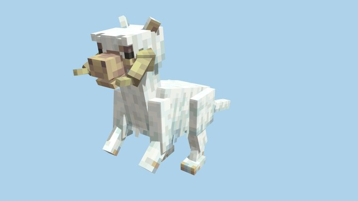 Minecraft Tauntaun 3D Model