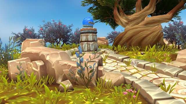 World of Warcraft Azsuna Diorama 3D Model