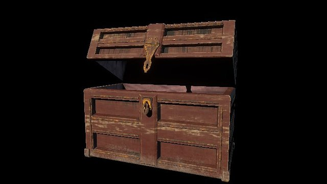 Wood Aged Chest 3D Model