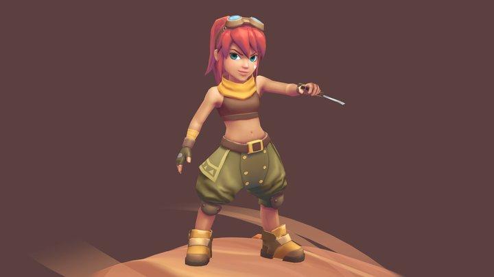 Naira the desert warrior 3D Model