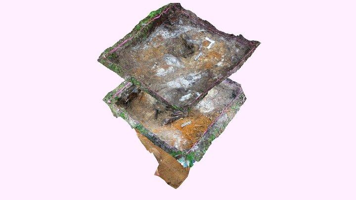 The model of WW2 fallen soldier's grave 3D Model