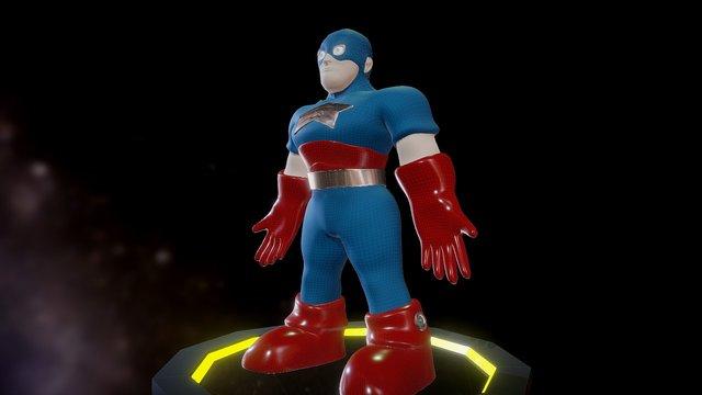 Captain 3D 3D Model