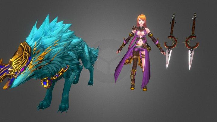 Kritika Wolf Guardian Tpose 3D Model