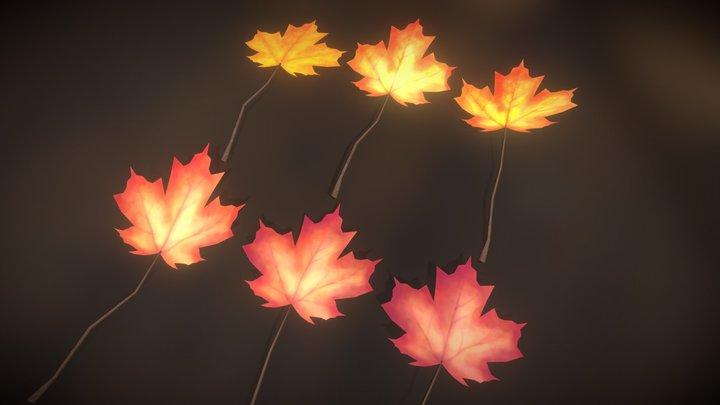 Maple Leaves Collection - Hojas de Arce 3D Model
