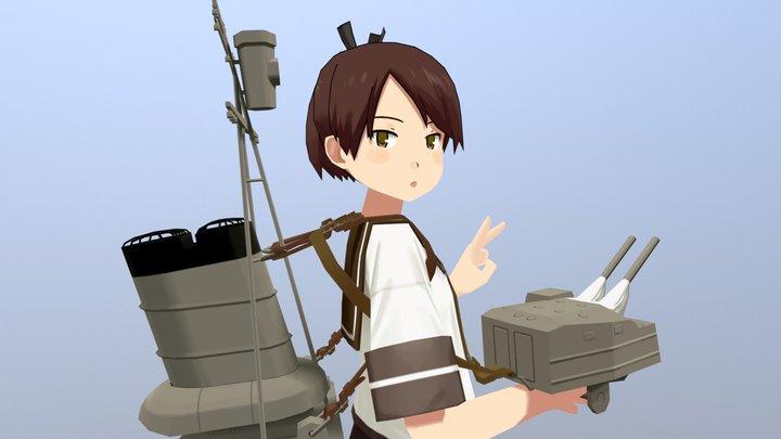 艦これの敷波 3D Model