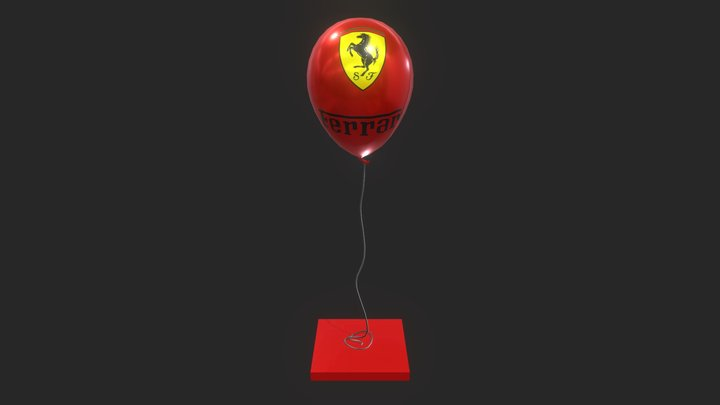 Ferrari Balloon 3D Model