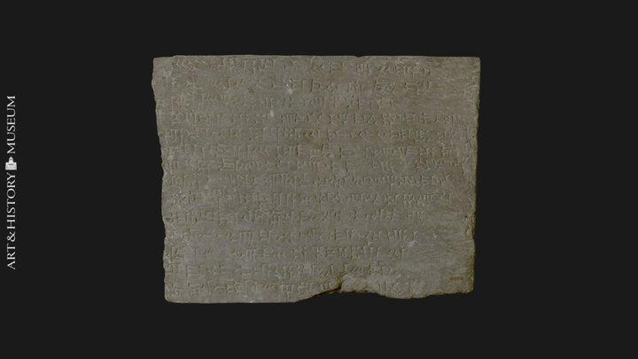 Royal Assyrian Inscription Ashurnasirpal 3D Model
