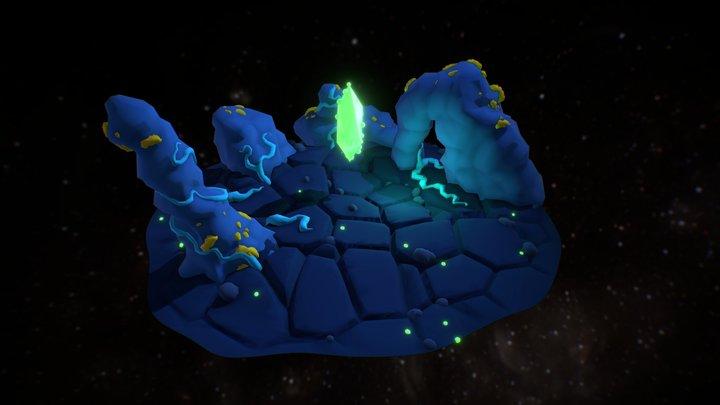 Alien planet export 3D Model