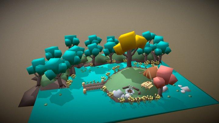 Swamp Island 3D Model