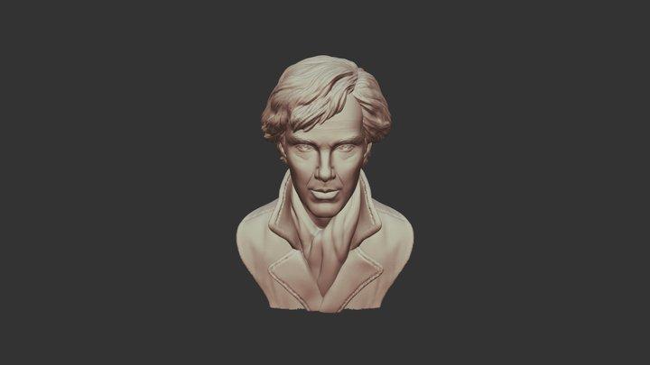 Benedict Cumberbatch 3D Sculpture 3D Model