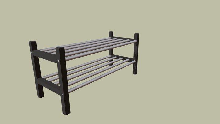 IKEA TJUSIG Shoe Rack 3D Model