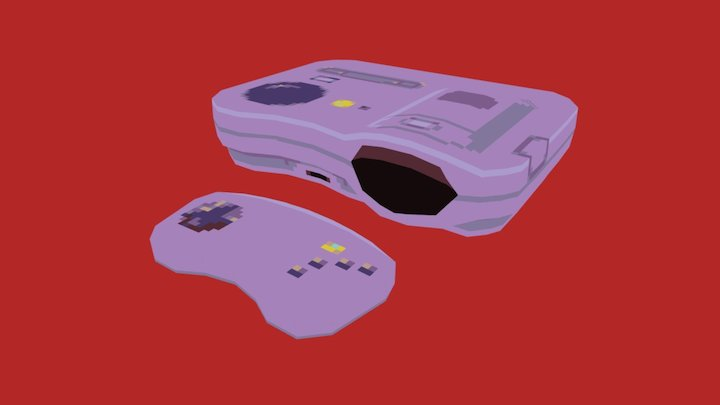 Casio Loopy Game Console 3D Model