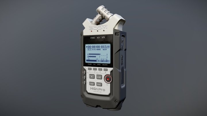 H4n Pro Audio Recorder 3D Model