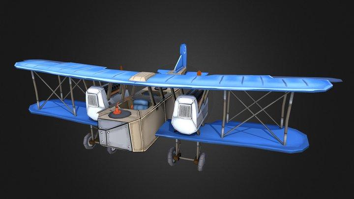 Gotha G.V Stylized Plane 3D Model