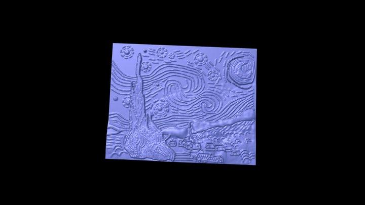 Van-gogh-nuit-étoilée 3D Model