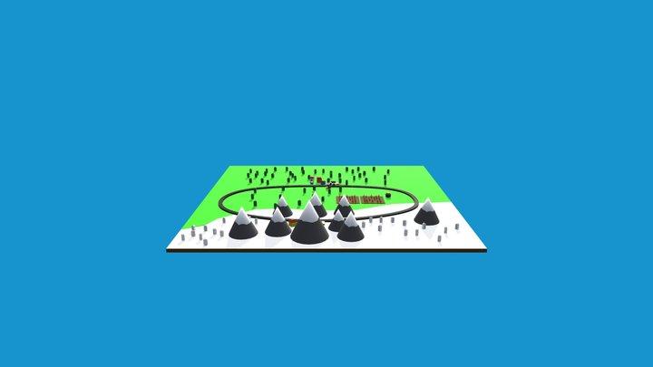 Cartoon Scene 3D Model