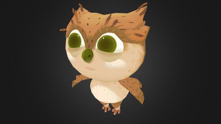 Low Poly cute Owl 3D Model