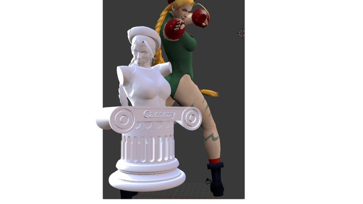 Street Fighter Cammy Statue 3D Model