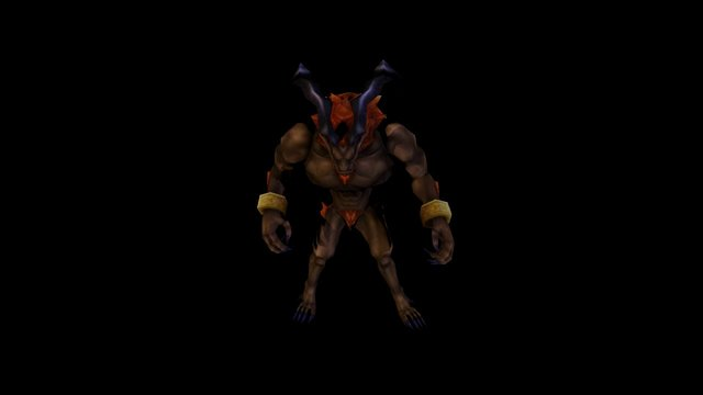 FFVII Guardian Force Ifrit (with texture0 3D Model