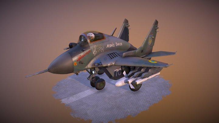 Mig-29 Chibi 3D Model
