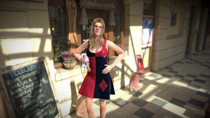 Harley Quinn Dress 3D Model