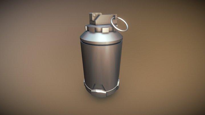 Sci-FI Grenade 1hr Hardsurface Challenge 3D Model